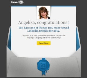 Top 10percent on LinkedIn